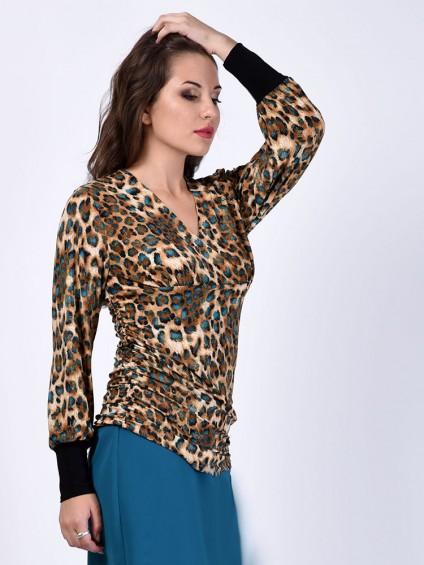 Блуза мод. 1811 цвет Леопардовый