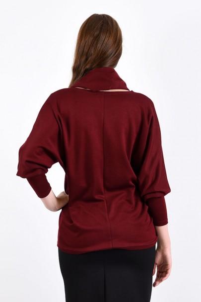 Блуза мод. 1817 цвет Бордовый