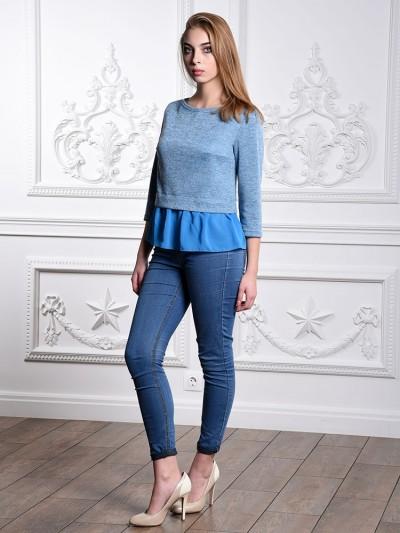 Блуза мод. 1819 цвет Голубой