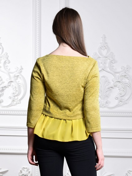 Блуза мод. 1819 цвет Желтый