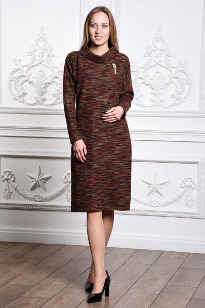 Платье мод. 1821-1 цвет Бордовый