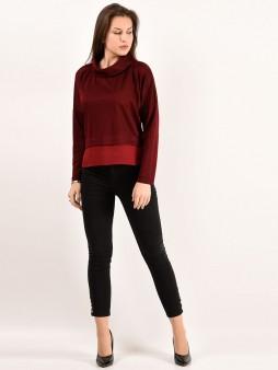 Блуза мод. 1821 цвет Бордовый