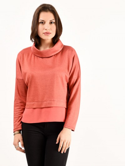 Блуза мод. 1821 цвет Персиковый