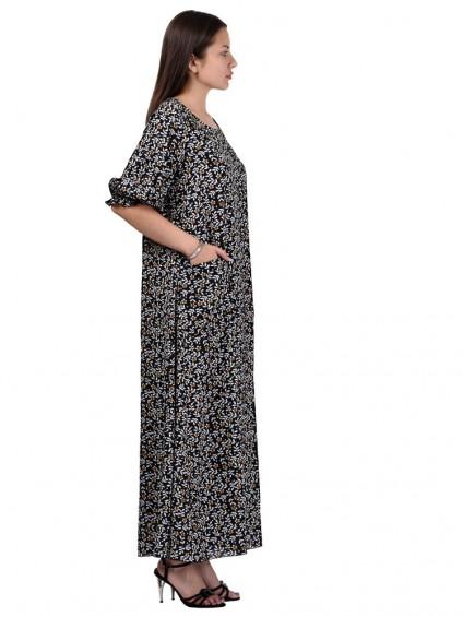 Платье мод. 2701-3 цвет Черный