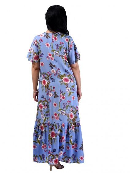Платье мод. 2701-4 цвет Голубой