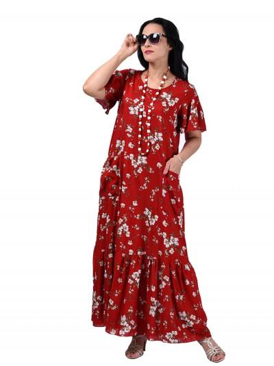 Платье мод. 2701-4 цвет Красный