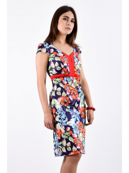 Платье мод. 3413-1 цвет Синий