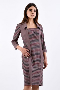 Платье мод. 3414 цвет Кофейный