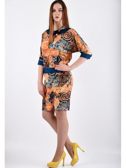 Платье мод. 3426 цвет Оранжевый