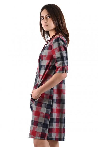 Платье мод. 3431 цвет Бордовый