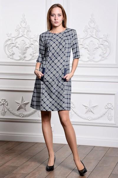 Платье мод. 3431 цвет Синий