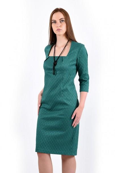 Платье мод. 3434 цвет Изумрудный