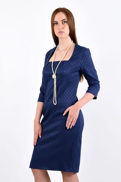 Платье мод. 3434 цвет Синий