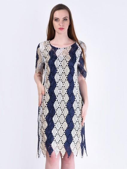 Платье мод. 3435-1 цвет Синий
