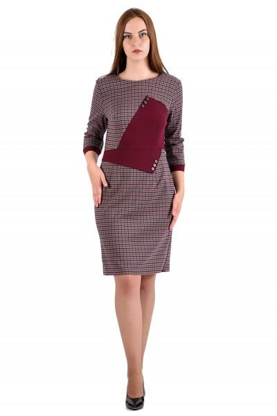 Платье мод. 3439 цвет Бордовый
