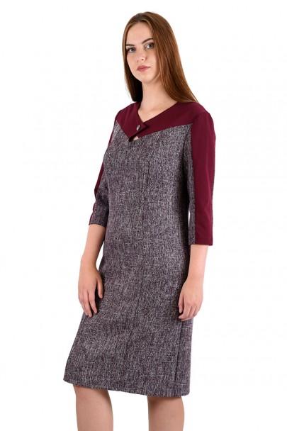 Платье мод. 3442 цвет Бордовый