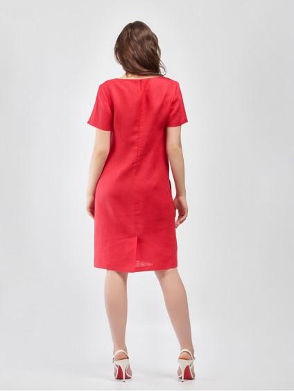 Платье мод. 3444-1 цвет Красный
