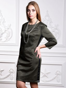 Платье мод. 3447 цвет Оливковый