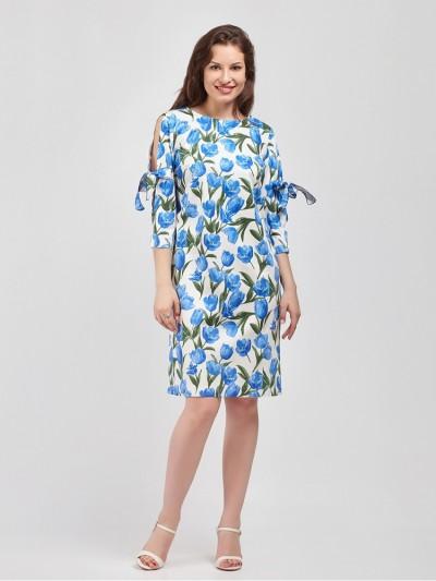 Платье мод. 3448-2 цвет Голубой