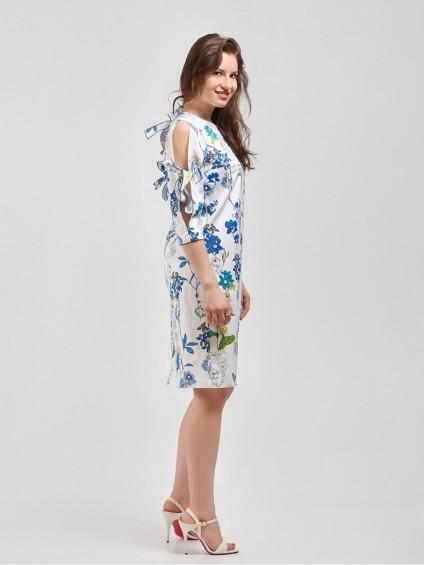 Платье мод. 3448-2 цвет Синий