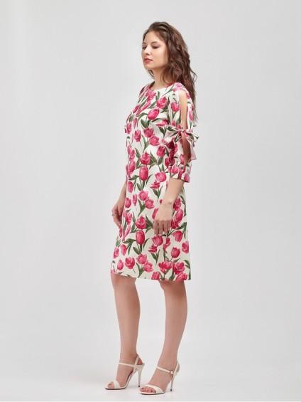Платье мод. 3448-2 цвет Розовый
