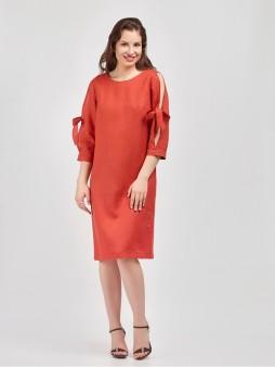 Платье мод. 3448 цвет Терракотовый
