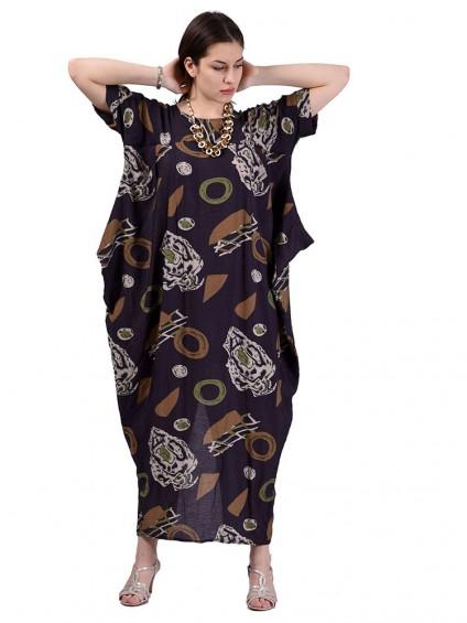 Платье мод. 3457 цвет Коричневый