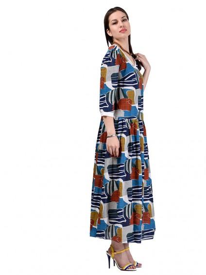 Платье мод. 3469 цвет Бирюза