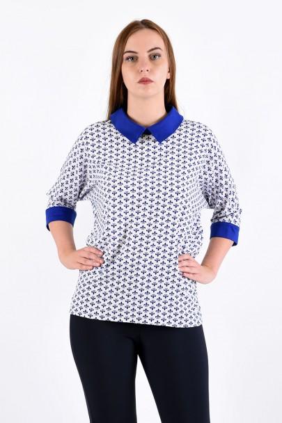 Блуза мод. 3502 цвет Голубой