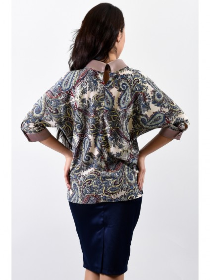 Блуза мод. 3502 цвет Огурцы