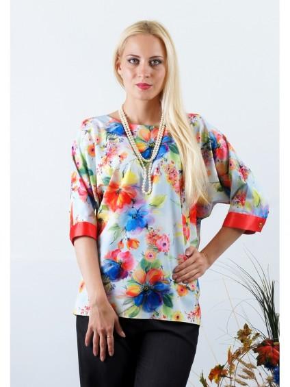 Блуза мод. 3504 цвет Цветы
