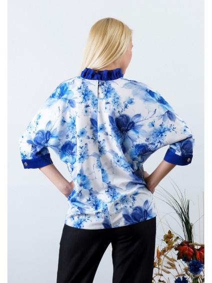 Блуза мод. 3505 цвет Синий