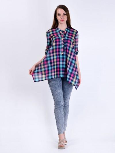 Блуза мод. 3516 цвет Бирюзовый