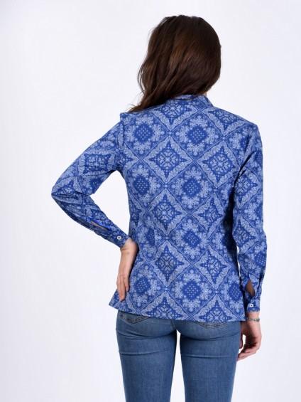 Блуза мод. 3518 цвет Васильковый