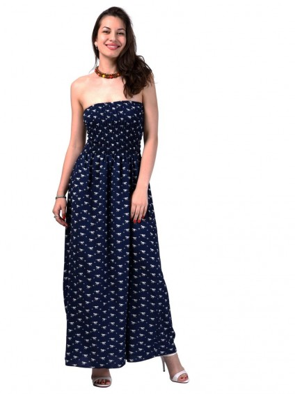 Сарафан мод. 3708 цвет Синий+белый