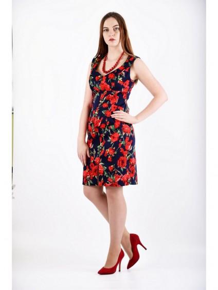 Платье мод. 3718 цвет Темно-синий