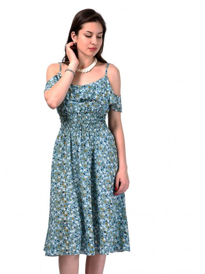 Сарафан мод. 3723 цвет Серо-голубой