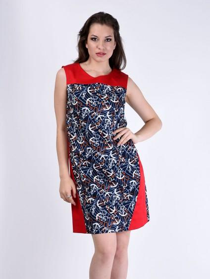 Платье мод. 3731-1 цвет Красный