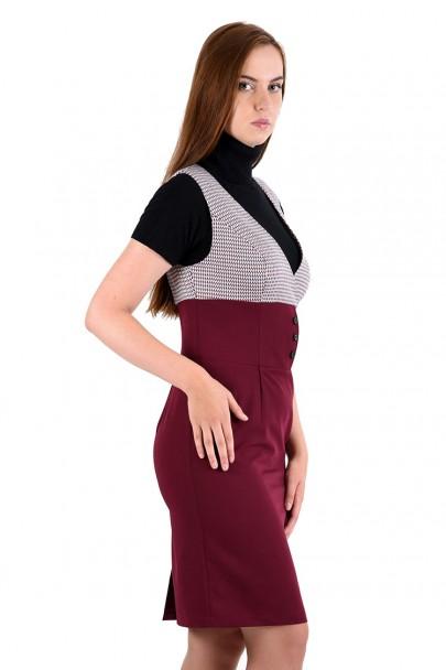 Платье мод. 3735 цвет Бордовый