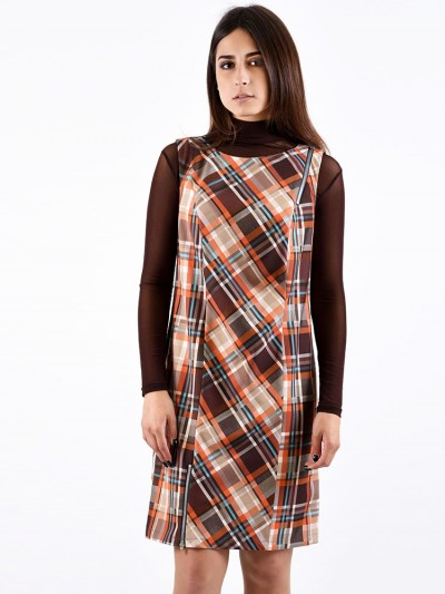 Платье мод. 3736 цвет Коричневый