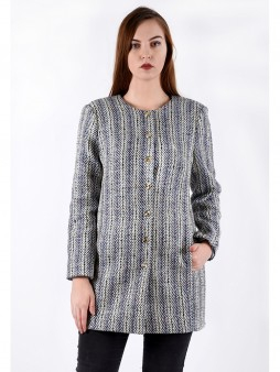 Пальто мод. 3817 цвет Синий