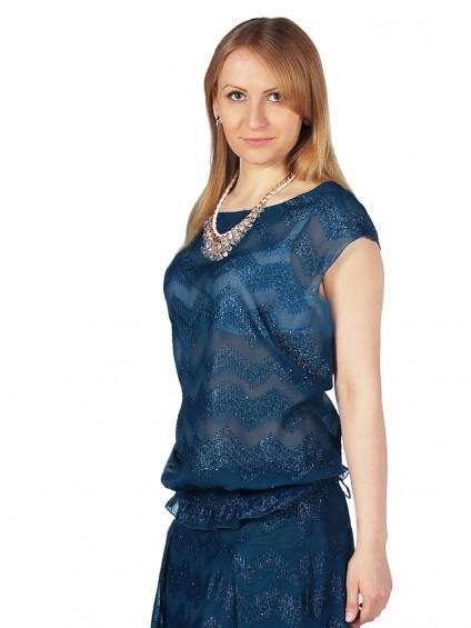 Блуза мод. 4501 цвет Бирюзовый