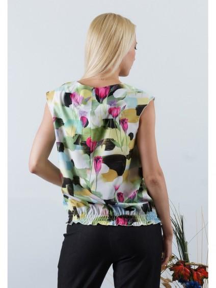 Блуза мод. 4501 цвет Зеленый
