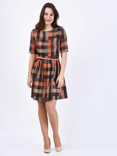 Платье мод. 5404 цвет Оранжевый
