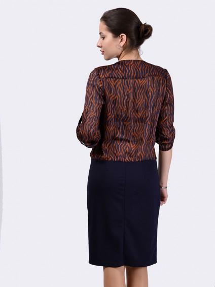 Платье мод. 6401-1 цвет Коричневый
