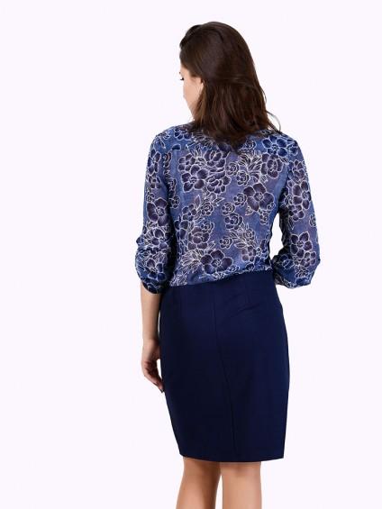 Платье мод. 6401-1 цвет Синий