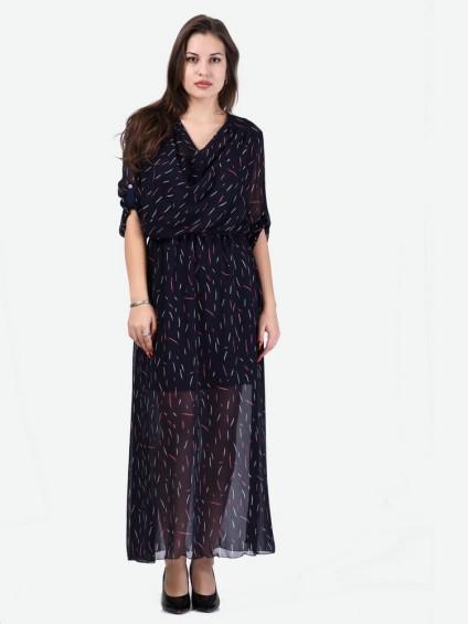 Платье мод. 6401 цвет Темно-синий