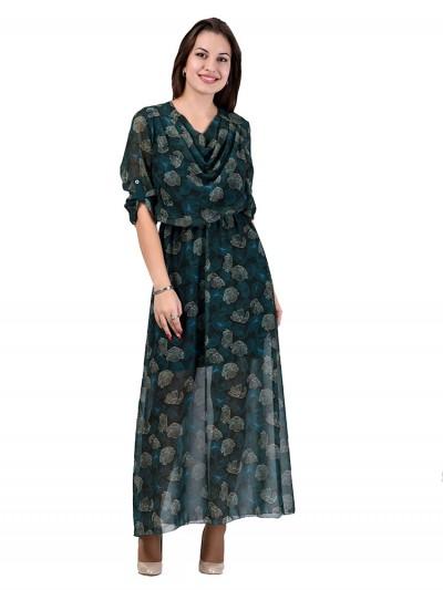 Платье мод. 6401 цвет Зеленый