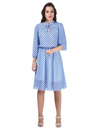 Платье мод. 6404 цвет Голубой