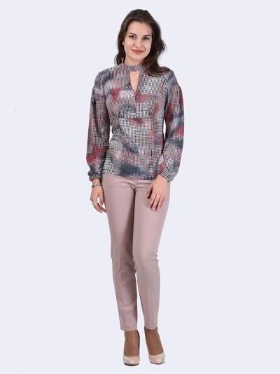 Блуза мод. 6507 цвет Красный